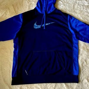 Men's Nike Pro Therma-FIT Navy and Royal Hoodie